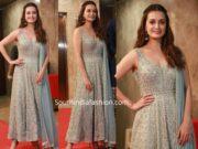 diya mirza in anita dongre salwar suit at ramesh taurani diwali party 2019