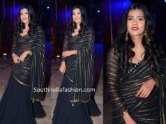 hebah patel in black lehenga at zee telugu bullitera awards 2019