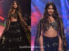ileana black lehenga by vikram phadnis at bombay times fashion week