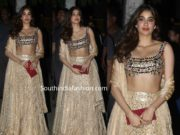 janhvi kapoor manish malhotra lehenga at bachchan diwali party 2019