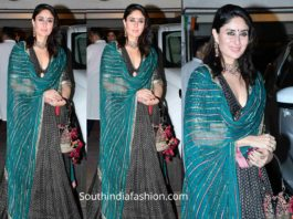 kareena kapoor blue lehenga at diwlai party 2019