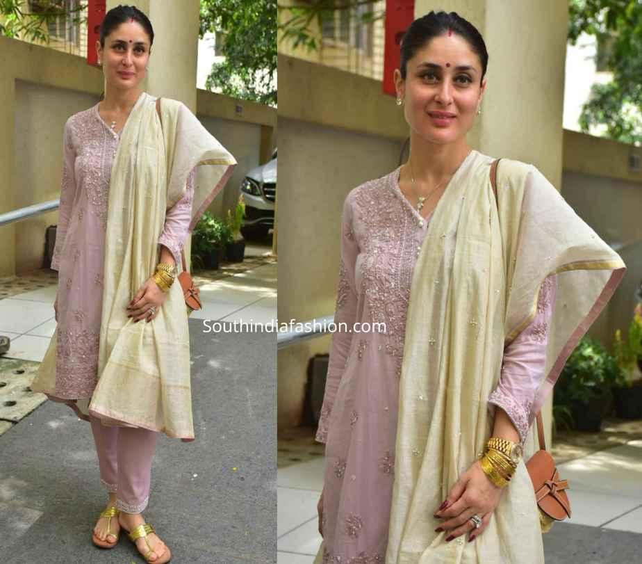 kareena pink salwar kameez diwali celebrations 2019