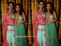 krystle dsouza and anushka ranjan in lehengas at ekta kapoor diwali party