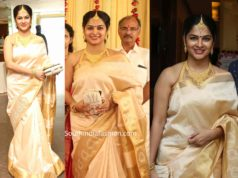 madhumita sivabalaji silk saree at archana engagement