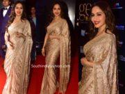 madhuri dixit gold saree at global excellence awards