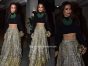 malaika arora khan skirt and black top at jacky bhagnani diwali party 2019