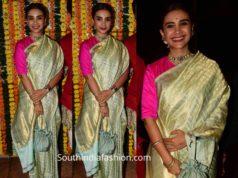 patralekhaa in silk saree at ekta kapoor diwali party 2019