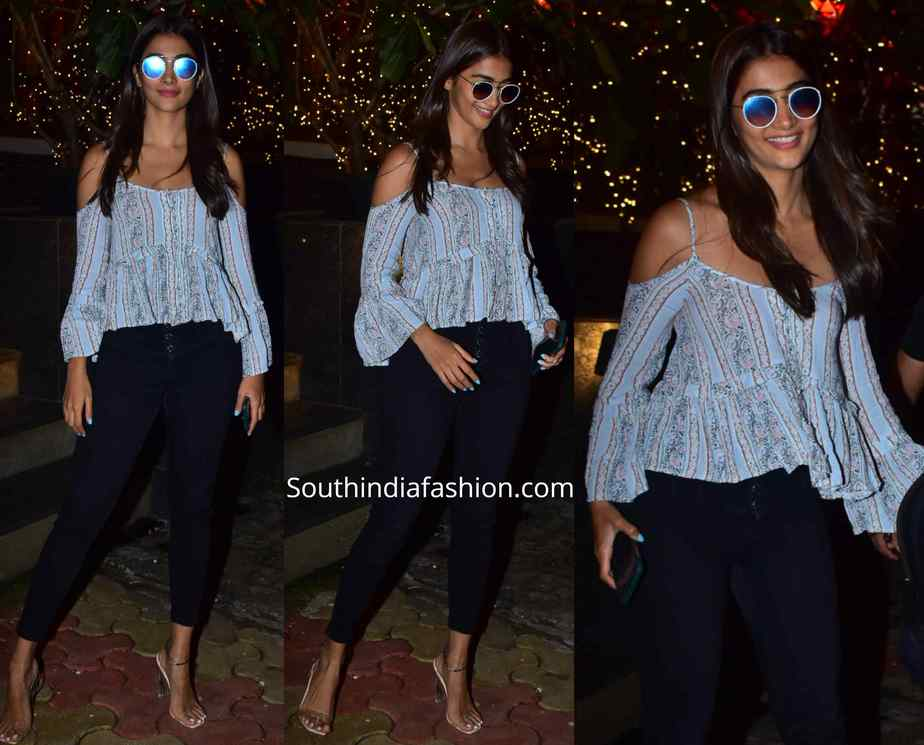 pooja hegde casual jeans and top