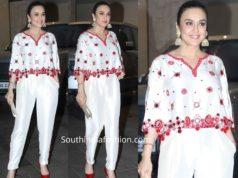 preity zinta white dress at jacky bhagnani diwali party 2019
