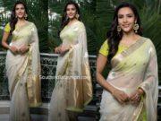 priya anand white saree by raw mango
