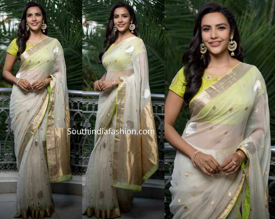 priya anand white saree by raw mango