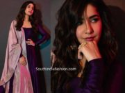 raashi khannna purple anarkali suit
