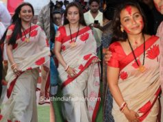 rani mukerji saree durga puja celebrations