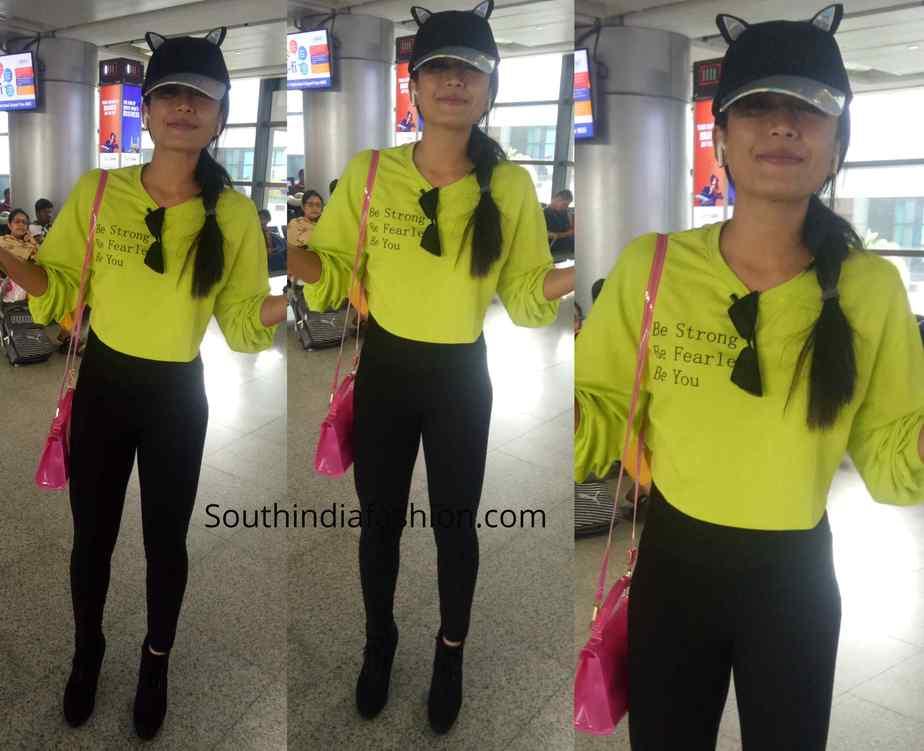 rashmika mandanna airport style