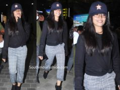 rashmika mandanna at hyderabad airport