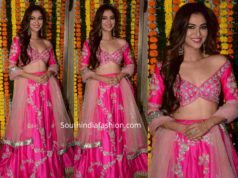 ridhima pandit in pink lehenga at diwali party 2019