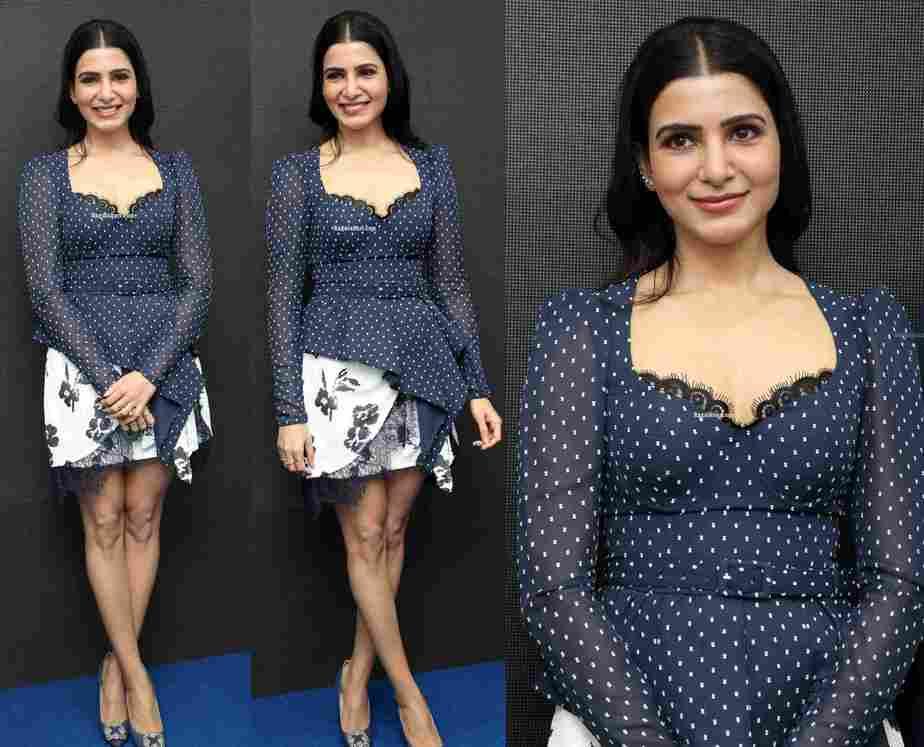 samantha akkineni mini skirt at one plus mobiles launch big c