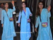 sara ali khan in blue chikankai suit