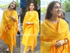 sara ali khan yellow salwar kameez