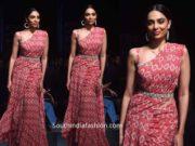 shobhita bhulipala pink saree bhumika sharma at lotus india fashion week