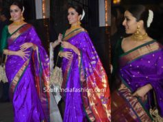 shraddha kapoor paithani saree at bachchan diwali party (1)