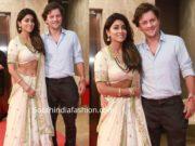 shriya saran with her husband at ramesh taurani diwali party