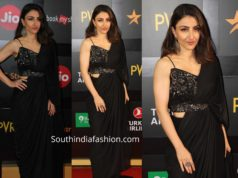 soha ali khan in black saree drape at mami mumbai film festival 2019
