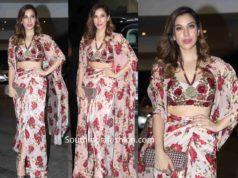 sophie choudry floral dress at jacky bhagnani diwali bash (2)