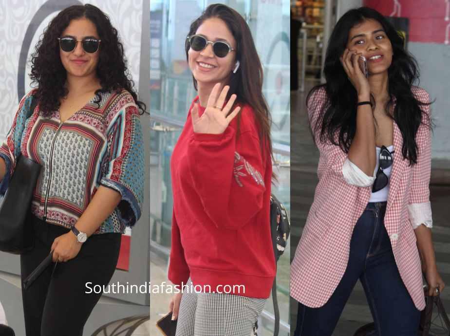 south indian actress hyderabad airport