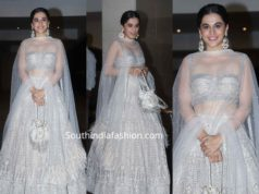 taapsee pannu white lehenga at jacky bhagnani diwali party