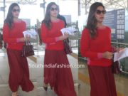 upasana kamineni snapped at hyderabad airport