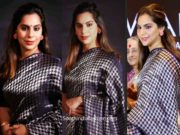 upasana konidela raw mango saree at mahatma awards