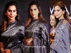 upasana konidela raw mango saree at mahatma awards