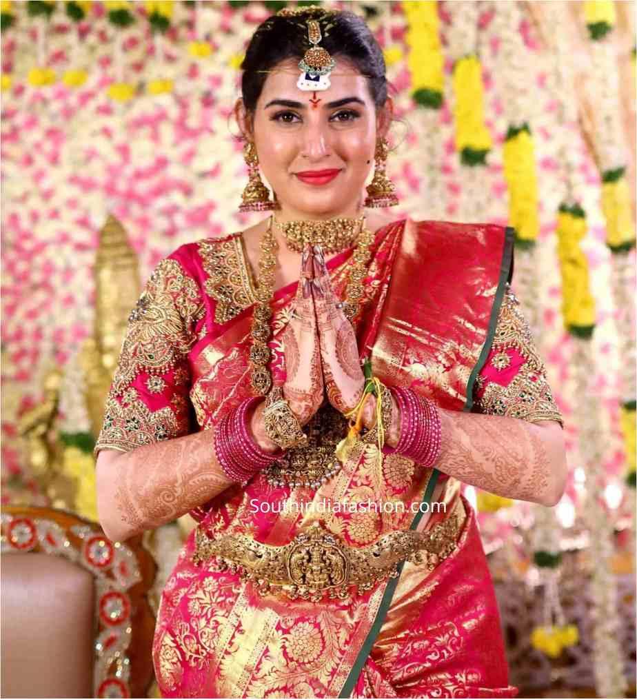 ARCHANA SHASTRY wedding saree jewellery