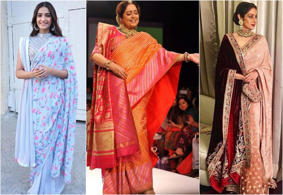 Designer saree style