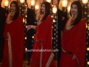 aishwarya rai bachchan red anarkali at ambani pre wedding party