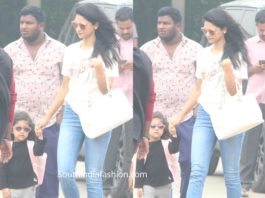 allu sneha and arha at airport