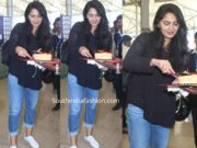 anushka shetty birthday airport (1)