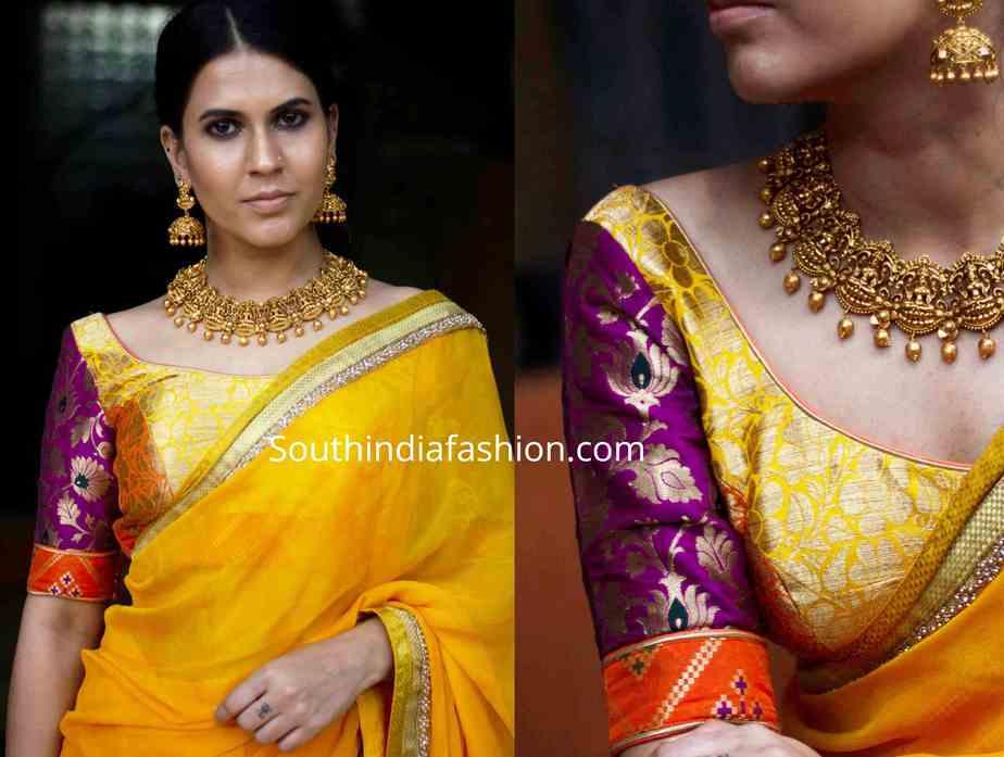 brocade blouse designs (1)