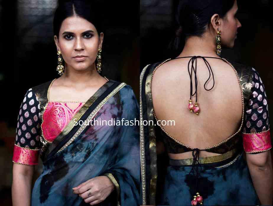 brocade blouse designs (2)