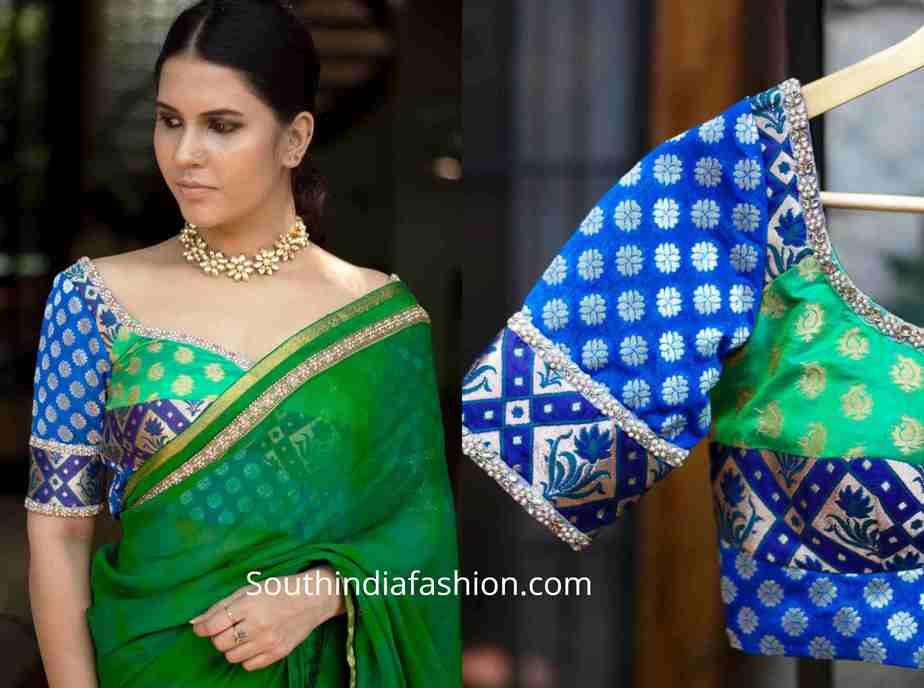 brocade blouse designs for sarees (1)