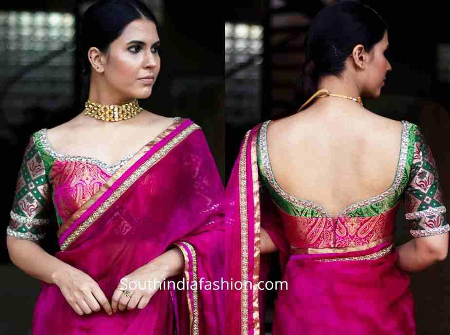 brocade blouse designs for sarees