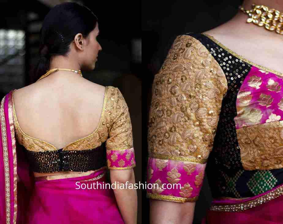 brocade blouse designs