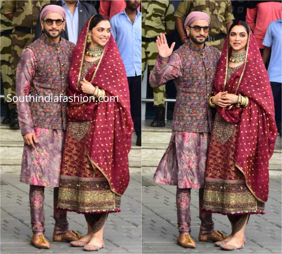 deepika ranveer in sabyasachi dresses at golden temple (2)