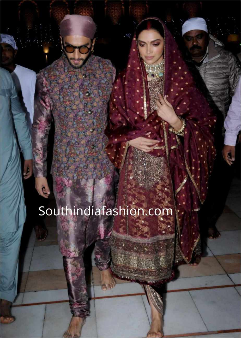 deepika ranveer in sabyasachi dresses at golden temple (3)
