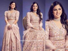 isha ambani in abu jani sandeep khosla lehenga at a wedding (2)