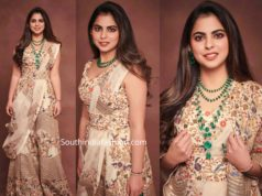 isha ambani in anamika khanna dress