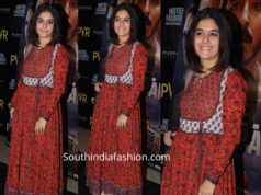 isha talwar printed anarkali at hitel mumbai screening
