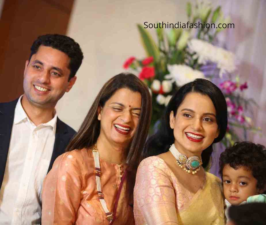 kangana ranaut at her brother engagement