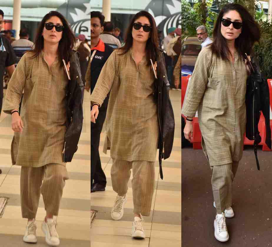 kareena kapoor airport look casual salwar suit